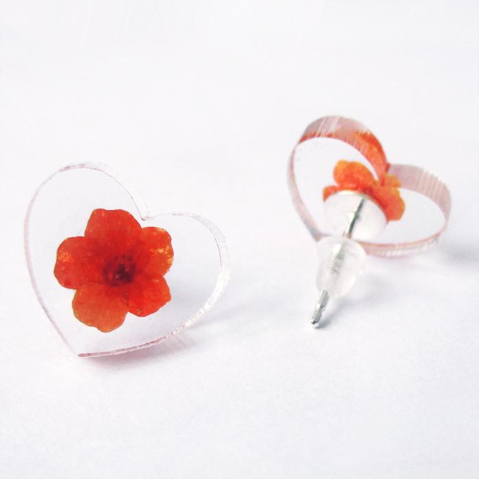 boucles d 39 oreilles en r sine et fleurs naturelles bijoux floraux lanaflore. Black Bedroom Furniture Sets. Home Design Ideas