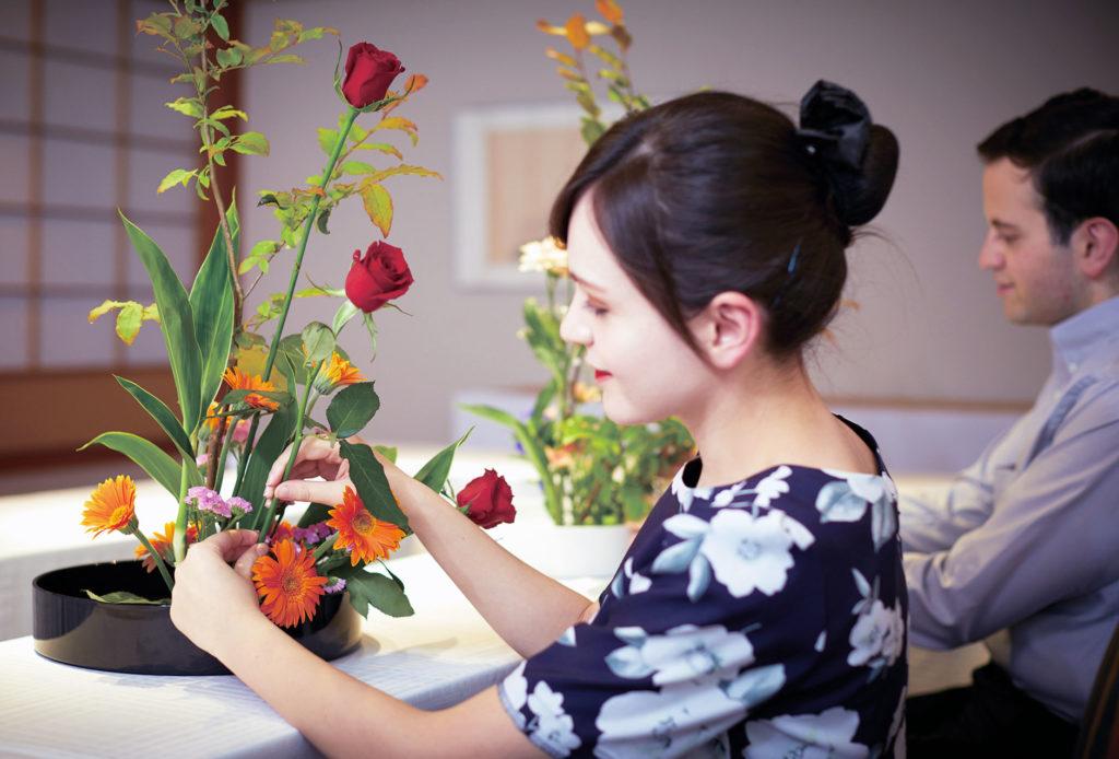 ikebana art floral japonais bijou fleur nature résine