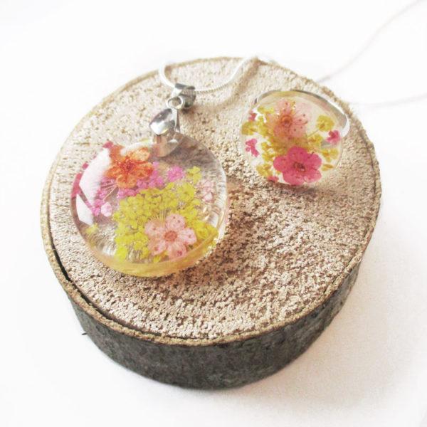 bijou bague yumi art floral cadeau femme fleurs résine inclusion