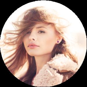 cadeau femme boucles-oreilles-fleur-resine-inclusion-triangle