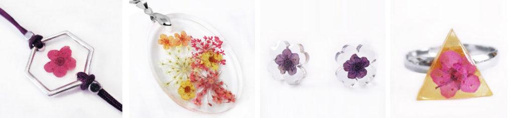 histoire du bijou floral resine bijoux-fleurs-resine inclusion nature cadeau femme