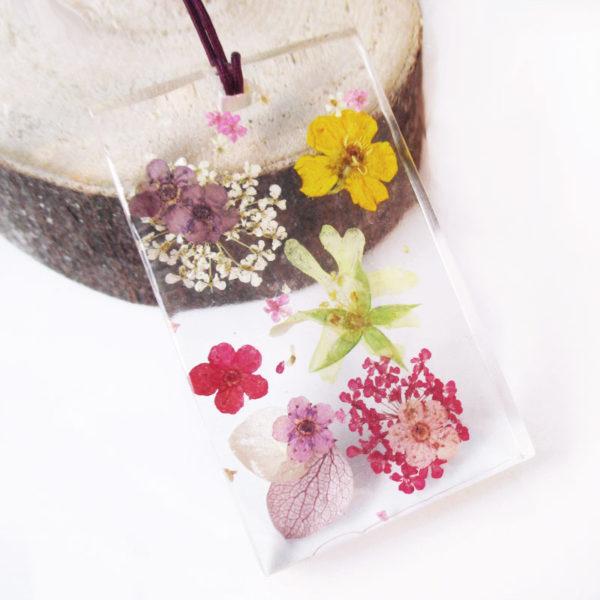 pendentif-fleurs colorée collier original bijou nature unique cadeau femme