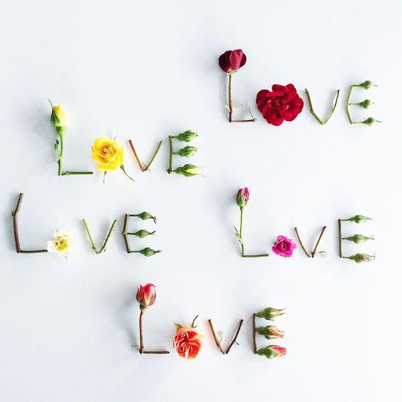 flower words love resin jewelry handmade floral art