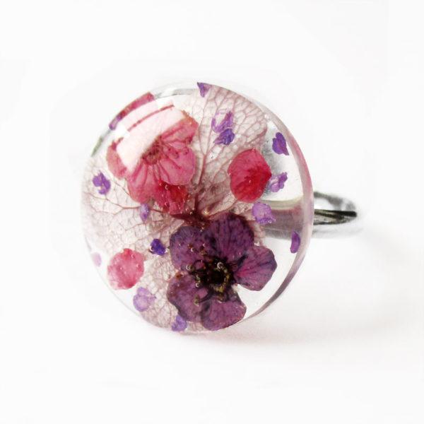bague selena-bijou-végétal-resine-fleur-personnalisable-bijou-floral-cadeau-nature-femme