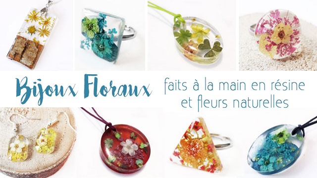 bijoux nature lanaflore bijou fleur cadeau floral femme unique collier résine fleurs naturelles
