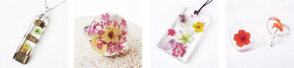 un bijou unique pour la fete des meres-bijou-floral-resine-fleurs-nature