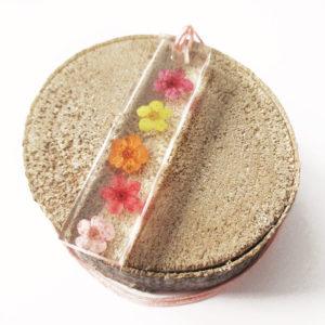 pendentif-sweet candy arc-en-ciel-collier nature bijou résine cadeau femme pendentif fleur bijou floral