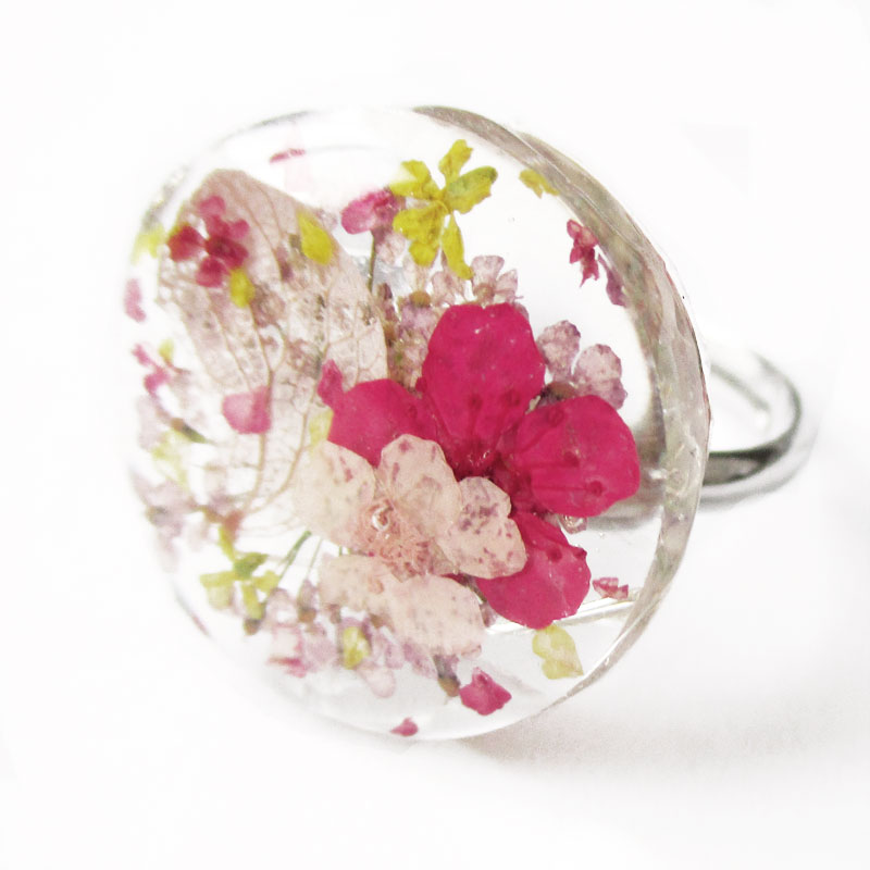 bague luna en r sine et fleurs bijou nature made in france lanaflore. Black Bedroom Furniture Sets. Home Design Ideas