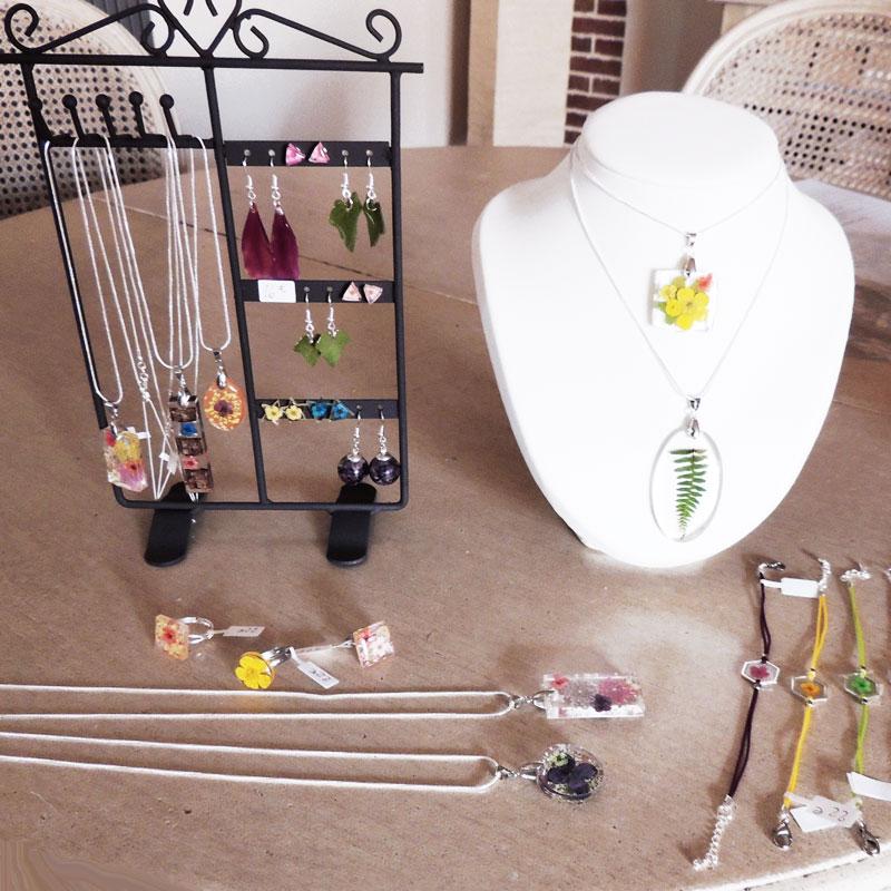 bijoux-fleurs nature stand lanaflore la forge château cheverny créateur bijoux artisanat châteaux de la loire sologne