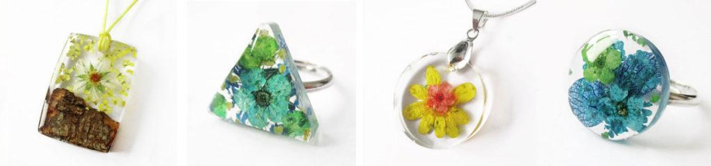 bijou-nature-unique-cadeau-femme-original-bijoux-fleurs-résine