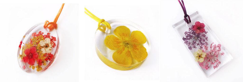 bijou végétal bijoux fleurs lanaflore résine d'inclusion fleur naturelle bague nature cadeau femme collier-argent 925