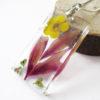pendentif anémone collier végétal résine d'inclusion bijoux nature fleurs naturelles cadeau floral femme argent sterling 925