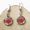 bijoux nature boucles d'oreilles anouk résine inclusion lanaflore bijoux végétal fleurs naturelles cadeau femme original