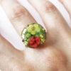 bague octavia résine d'inclusion fleurs séchées bijoux nature bijou végétal bague florale