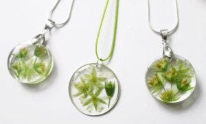 bijoux résine céraiste fleurs personnalisées