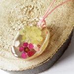 pendentif-savannah-fleur rose collier végétal résine d'inclusion bijoux nature fleurs naturelles cadeau floral femme argent sterling 925